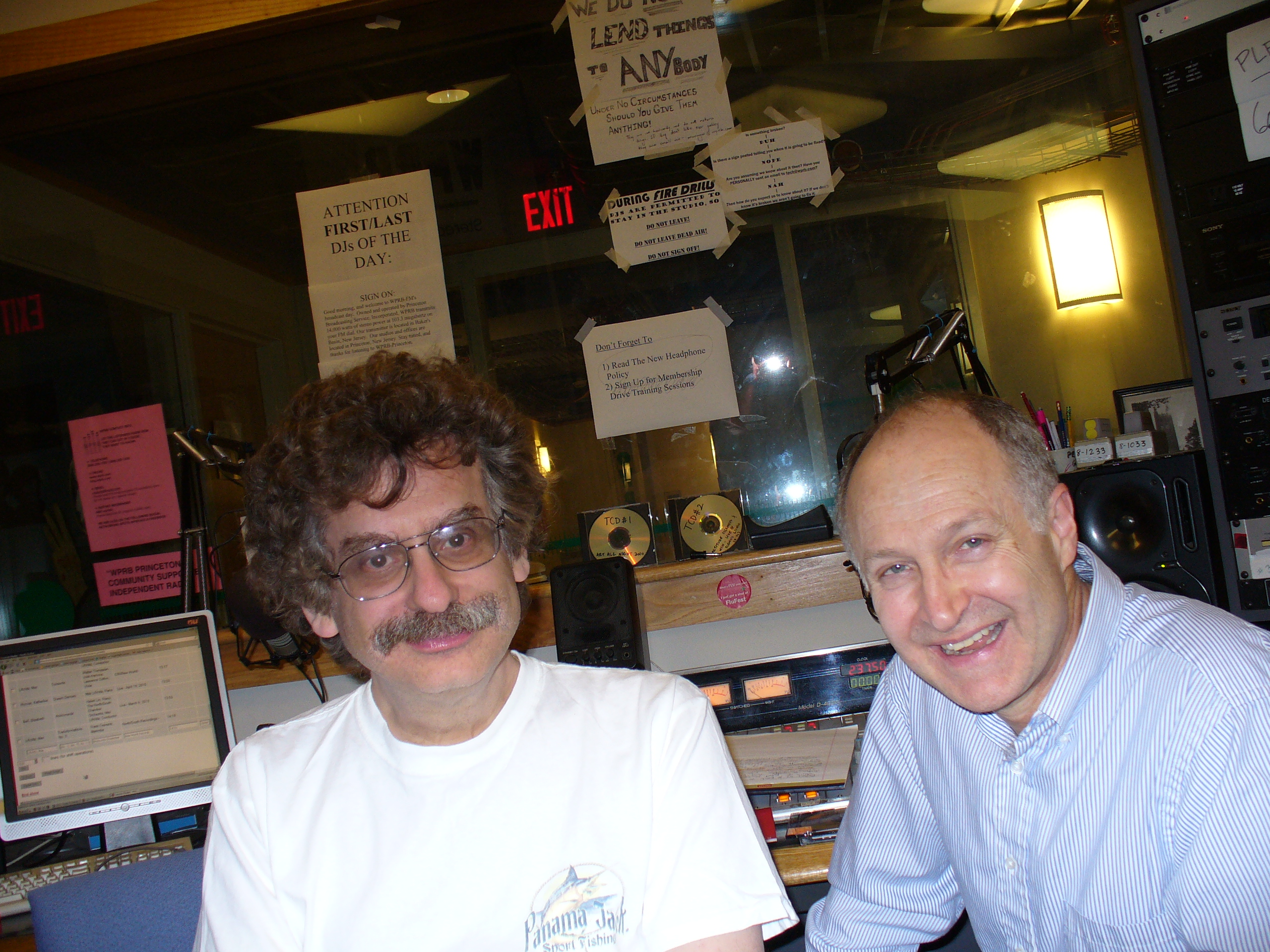 Max Lifchitz and Marvin in WPRB